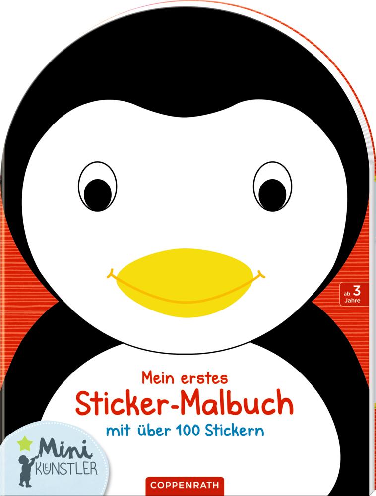Mein erstes Sticker-Malbuch: Pinguin (Mini-Künstler)