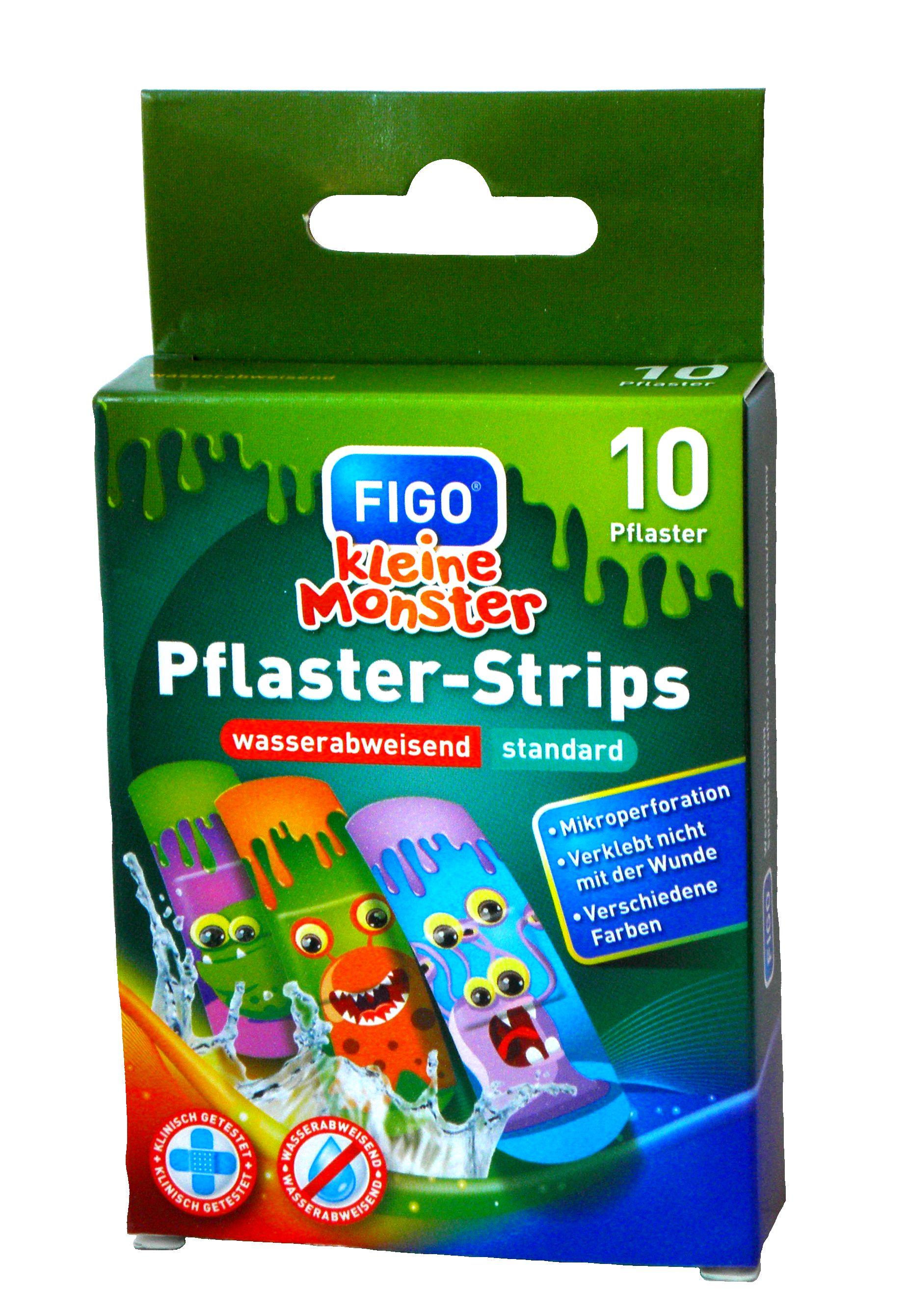 """FIGO Pflaster-Strips - Kinderpflaster mit """"Kleine Monster"""" Motiven"""