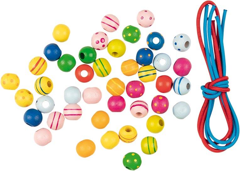 Perlen mit Bändern