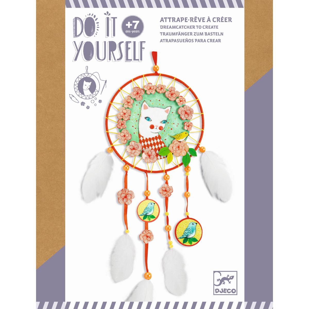 Do it yourself: Traumfänger zum Basteln: Katze