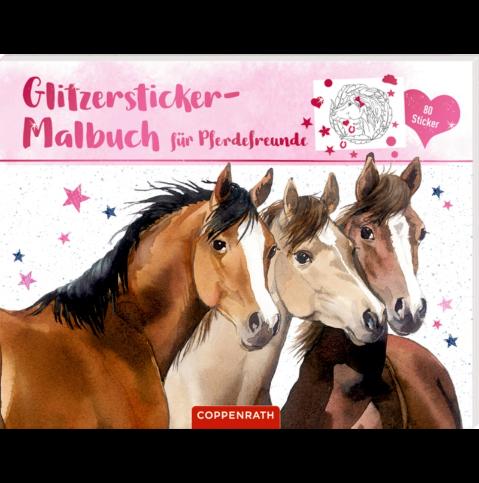 Glitzersticker-Malbuch für Pferdefreunde