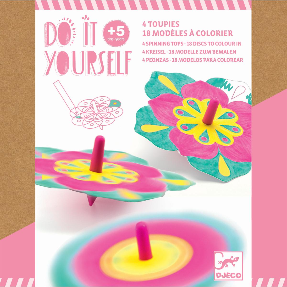 Do it yourself: Kreisel zum Bemalen - Blumen