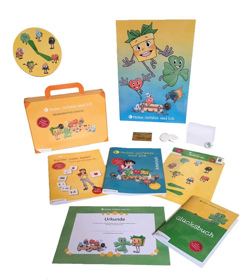 """Kleiner Koffer Vidulus für die Kinder im Kurs """"Meine Gefühle und Ich"""""""