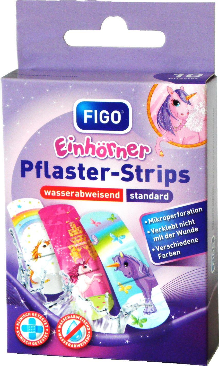 FIGO Pflaster-Strips - Kinderpflaster mit Einhorn Motiven